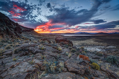 Central Nevada Sunset (Jeffrey Sullivan) Tags: travel sunset copyright usa lake nature canon landscape photography eos lava photo bed october united nevada central dry roadtrip states hdr basalt 2014 5dmarkiii