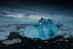 Big Ear (Marshall Ward) Tags: seascape ice landscape blacksand iceland icebergs jkulsrln 2015 icebeach nikond800 afszoomnikkor2470mmf28ged marshallward