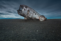 DC-3 [Explore]@South Iceland (Benjamin MOUROT) Tags: iceland islande northernlight viking canon 70d longexposure leefilter polarised lightroom6 photoshopcs3 1022mm landscape paysage poselongue europe july dc3 plane crash 1973 avion north us navy explore