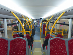 GAL OM1 - YJ16DBO - INTERIOR 5  - BX BEXLEYHEATH BUS GARAGE - WED 20TH JULY 2016 (Bexleybus) Tags: go ahead goahead london optare metrodecker demonstrator prototype om1 yj16obd bx bexleyheath bus garage kent tfl route 486