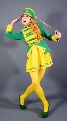 105H4L (klarissakrass) Tags: uniform parade heels costume cosplay crossdress garde tights penthouse