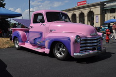 DSC_0401 (352Digz) Tags: pickup truck custom chrome nikon d5000 nikkor 1855mm kit lens 2016 17th annual ppg syracuse nationals ny state fairgrounds july street rods hot rat classics 15th 16th sooc chevrolet chevy pink