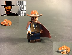 "The ""Man with No Name"" (TheBrickBrewer) Tags: brick lego good painted bad ugly figure minifig custom clinteastwood minifigure the westerns brickarms"
