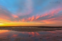 Clouds in the Mud - Explored 07/08/2016 (Beth Wode Photography) Tags: sunset dusk reflections clouds mud lowtide wellingtonpoint redlands beth wode bethwode