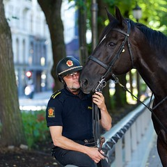 Norwegian police officer with his horse (Cato Lien) Tags: horse relax police hest politi