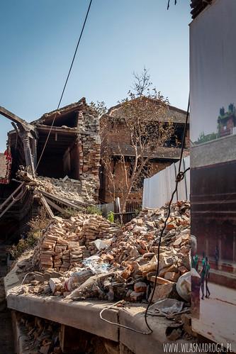Pozostałości po trzęsieniu ziemi