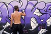 L'art du risque -* (Titole) Tags: letters streetart titole nicolefaton purple joks graffeur graffiti paint aerosol mask thechallengefactory