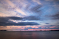 Sunset - long exposure style (Kevin Povenz Thanks for the 2,600,000 views) Tags: 2016 july kevinpovenz westmichigan michigan october oceanacounty silverlake lake sanddunes sunset canon7dmarkii sigma1020 evening stormyweather clouds outdoors longexposure 10stopfilter blue dusk