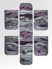 purple/gray Runner and Mats (ginhollow) Tags: placemats runner quilted patchwork curved
