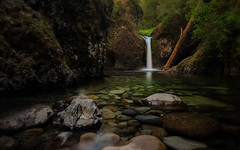 Punchbowl Falls - Explored (PrevailingConditions) Tags: waterfall punchbowl forest water rocks trees oregon portland columbiarivergorge landscape peaceful