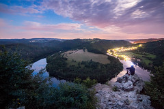 Watching the stars (Jan Malkovsky) Tags: brush canon canon70d city citylife citylights clouds cover czechrepublic dawn farms forest harvest land landscape light lightpolution longexposure male model mountains nature night orlik person relaxing river rocks sitting sky solenice startrails stars tokina tokina1116mm trails tranquil trees viewpoint vltvava wideangle zduchovice