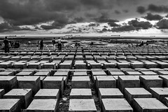 The Block Game... (Ajwad Mohimin) Tags: blocks blackandwhite bangladesh bangladeshi ngc canon canon60d street streetlife people sky beach 1855 18mm wide