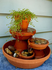 Mini Water Fountain (irecyclart) Tags: fountain miniature pots