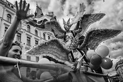 Pride Parade Prague_1382016_0893 (Petr Kleiner) Tags: pride parade angels fly streetphotos nik man woman hand palm sky clouds