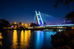 DSC_4121_HDR_1 (sergeysemendyaev) Tags: 2016 rio riodejaneiro brazil    barra bridge illuminating night nightview architecture       river