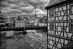 Bamberg, Rathaus (Javier Palacios Prieto) Tags: bamberg rathaus brcke fluss wolken fachwerkhaus fackwerk deutschland heimat wasser alemania casa madera rio river architecture