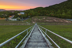 Just Another Day (S S p i X) Tags: sunset penang hill stair lighttrail