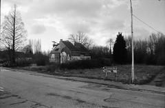 Engelsesteenweg, Doel, OVL (Jickatrap) Tags: pentaxmz50 pentax 35mm  analog film filmphotography  bwfilm  ilforddelta delta400   abandoned  carretera       newtopographics photographersontumblr   doel