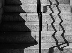 Zig-Zags (stephenbryan825) Tags: albertdock liverpool abstracts angles details graphic handrail lines selects shadows steps stronglight