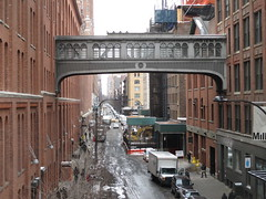 High Line Snow Covered Railroad Overpass Tracks to Nowhere 8591 (Brechtbug) Tags: road park street new york city nyc railroad winter urban snow streets west art architecture garden way design march high downtown gallery path walk manhattan district balcony packing side nowhere tracks overpass rail pedestrian mini el meat line midtown covered mezzanine transportation boardwalk former elevated blizzard derelict reclamation highline skyway redesign the remodeled 2015 03072015
