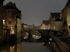 Along the River Dyle (louise peters) Tags: bridge light tile evening licht belgium walk belgië brug avond mechelen vlaanderen dyle dijle avondwandeling flemishbrabant riverdyle