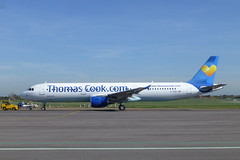 Thos. Cook, A.321 at London Southend Airport. (piktaker) Tags: jet airbus essex southend sen thomascook jetairliner a321211 passengerairliner egmc londonsouthendairport oyvkt atclasham gtcdv