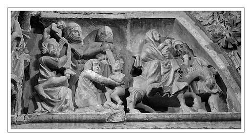 Matança dels innocents (portada de Sª María la Real, Olite, Navarra).