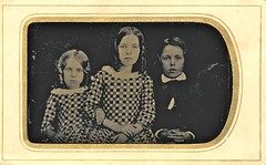 Tintype of an earlier daguerrotype (sctatepdx) Tags: siblings tintype corkscrewcurls bottlecurls antiquedresses