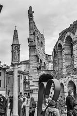 Verona Arena (Andrea Bottoli) Tags: blackandwhite white black 35mm pentax arena verona 35 k50 pentaxk50