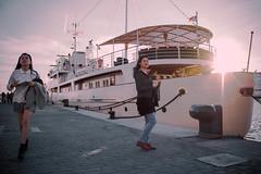 La Sultana (may_escutia) Tags: sunset sea port puerto andaluca spain ship oriental mediterrneo mlaga spanje andalussia muelleuno