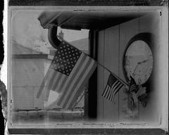 Patriotic (harlequin green) Tags: camera usa film america polaroid fuji patriotic flags 330 negative pack land instant fp3000b