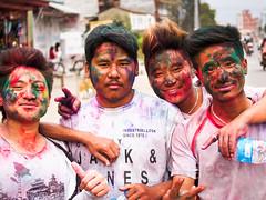 Holi festival (whitworth images) Tags: nepal people colors festival worship asia colours bright religion powder celebration hindu hinduism holi pokhara kaski indiansubcontinent