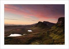Reminiscence XXXI (Frank Hoogeboom) Tags: uk orange mountains skye green sunrise landscape scotland highlands unitedkingdom hills isle schotland quiraing