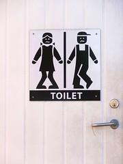When in need.... (Jaedde & Sis) Tags: møn door need sign toilet black white sweep friendlychallenges 15challengeswinner herowinner ultrahero beginnerdigitalphotographychallengewinner bdpc halloffame challengeyouwinner cyunanimous
