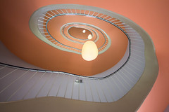 Apricot (Elbmaedchen) Tags: stairs staircase stairwell treppenhaus treppenauge treppenaufgang treppe escaliers escaleras mint roundandround spirale spirals