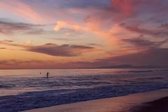 California Dream'n (boobie40 aka- Keegan) Tags: california paddleboard surfer surf sea swell d810 nikon pink skyporn cloudporn clouds sky color