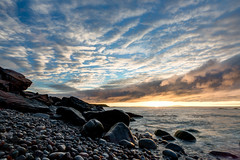 Sunrise from Pebble Beach (The Burgys) Tags: landscape acadia nationalpark acadianationalpark maine coast coastal beach mountdesertisland mdi sunrise clouds ocean color rocks granite sony a99 sonya99 zeiss zeiss1635 summer polarizer wideangle