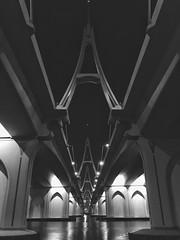 Mt Saint Michel + Saint Michaels Mount (Ovais M) Tags: city blackandwhite bw white black streets architecture buildings photography design dubai uae structure minimal rak bnw citywalk iphone jbr dubaimall festivalcity iphone6s mydubai