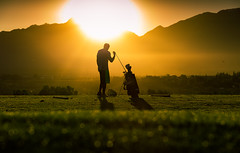 sunrise golfer - 196/366 (auntneecey) Tags: sunrise stranger seeking silhoutte golfer odc lightiseverything day196366 366the2016edition 3662016 14jul16
