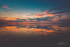 The meaning of reflection (AmaurieRaz) Tags: canon canonphotography canonusa canonus reflection color colorful sunset dusk lake lakeapopka centralflorida florida wintergarden orange blue clouds outdoors nature light west sky horizon water 5dmarkii 2470mm fullframe art photographyisart usa beauty beautiful follow explore likeit