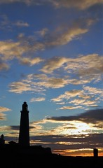 Clouds at Dawn - St. Mary's island (Gilli8888) Tags: whitleybay sunrise lighthouse stmaryslighthouse tyneandwear dawn clouds sky light batesisland coast eastcoast northsea coastline seascape silhouette
