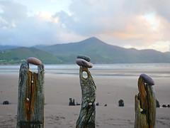 three peaks (wild goose chase) Tags: sunbeam shipwreck glenbeigh rossbeigh kerry ireland pebble stone landart