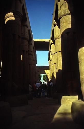 "Ägypten 1999 (250) Tempel von Luxor: Sonnensaal im Hof des Amenophis III. • <a style=""font-size:0.8em;"" href=""http://www.flickr.com/photos/69570948@N04/28287328225/"" target=""_blank"">View on Flickr</a>"