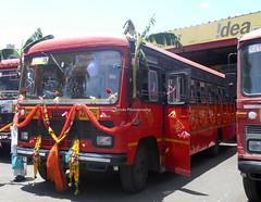 Nicely Decorated Bus of Miraj depot (gouravshinde94) Tags: msrtc bus parivartan miraj