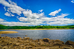 Colebrook-River-Lake-5 (desouto) Tags: flowers sky nature water clouds stream stones lakes ponds hdr