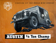 Austin Champ 1951 Leaflet front cover (buzzer999) Tags: green car promotion austin advertising army birmingham offroad 4x4 military utility pickup rollsroyce literature 1950s vehicle leaflet publicity sales champ 1951 specification dinky fourwheeldrive blackcountry reme longbridge armedservices generalpurpose dinkytoys