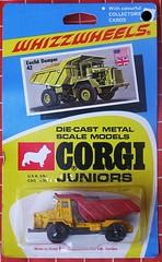 Euclid Dumper (streamer020nl) Tags: auto greatbritain car metal toys corgi models card junior gb 1970 juniors euclid 42 collector diecast jouets speelgoed dumper mettoy whizzwheels