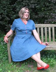 Maxblu40s (fionaxxcd) Tags: crossdresser crossdressing transvestite tranny trannie m2f mtf rednails lipstick petticoat tights pantyhose bust
