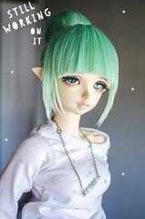 In Progress (Frappzilla) Tags: fairyland rin doll bjd bun wig