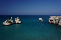 Le due sorelle, Salento (andbog) Tags: sony alpha ilce a6000 sonya6000 emount mirrorless csc sonya oss sel 1650mm selp1650 sony sonyalpha sony6000 sonyilce6000 sonyalpha6000 6000 ilce6000 italia italy puglia apulia salento blue blu sea mare summer estate sooc seascape shoreline faraglioni overlook melendugno torredellorso maritimeerosion paesaggio landscape mediterranean mediterraneo